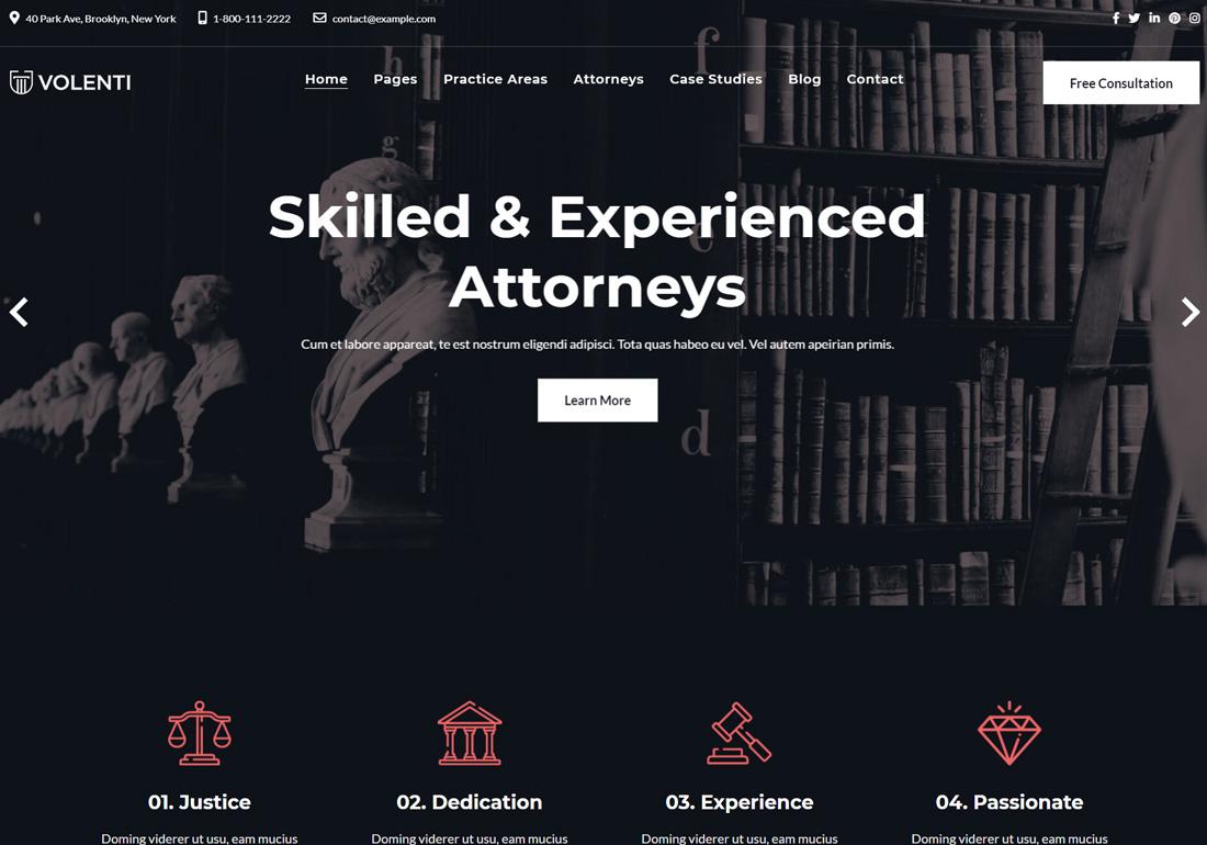 Volenti Attorney Law Firm Theme