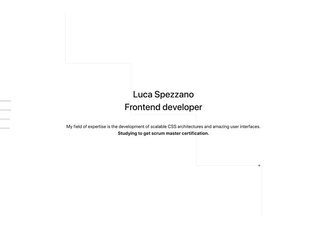 Luca Spezzano | Frontend developer