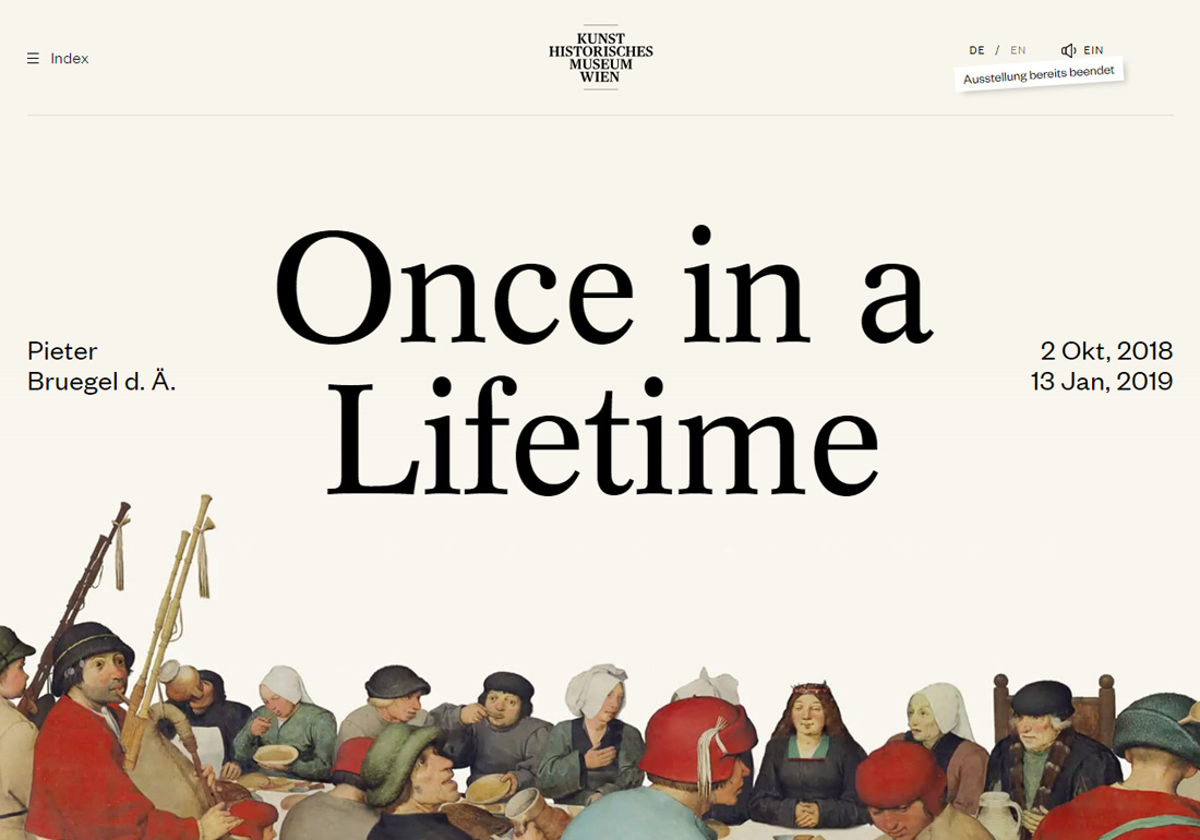 Bruegel – Once in a Lifetime