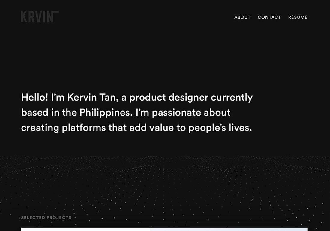 Kervin Tan — Portfolio