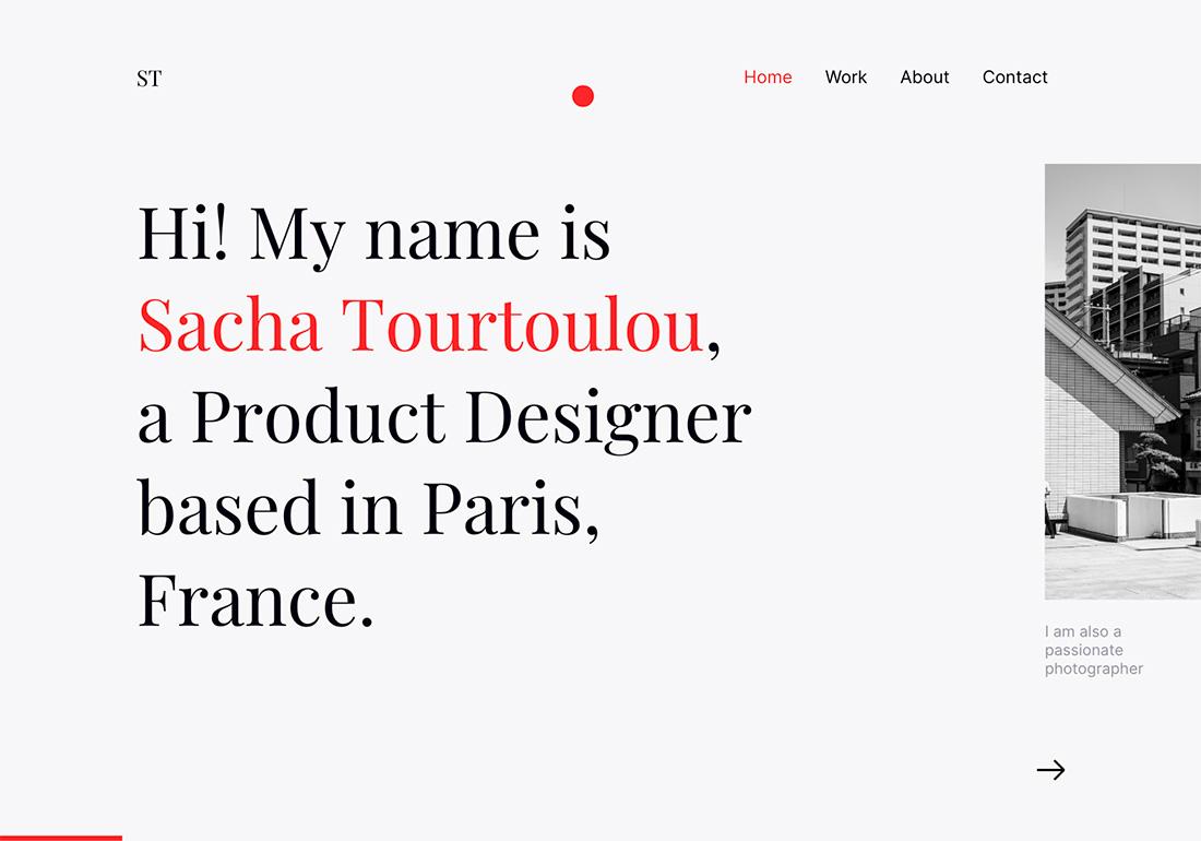 Sacha Tourtoulou - Portfolio