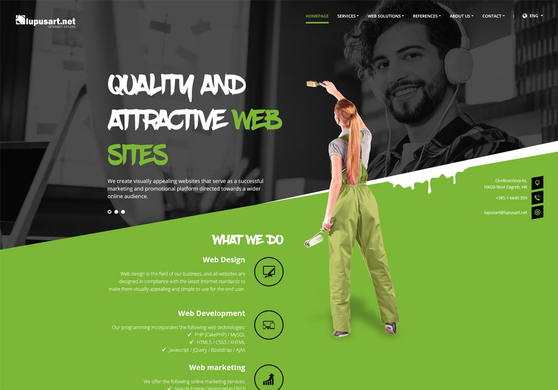 Web design, web development