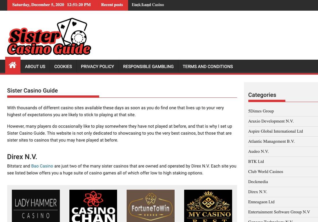 Sister Casino Guide