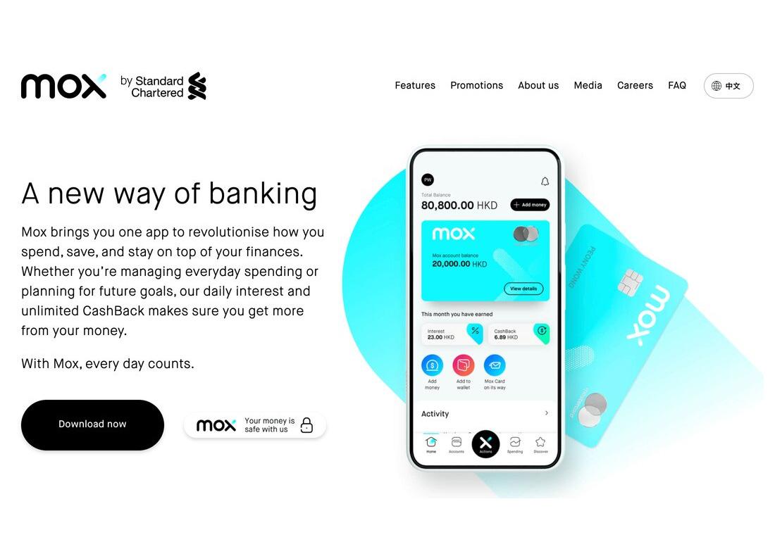 Mox Bank website