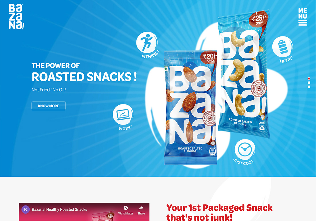Bazana! Healthy Roasted Snacks!