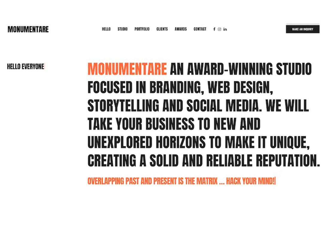 Monumentare Studio Design