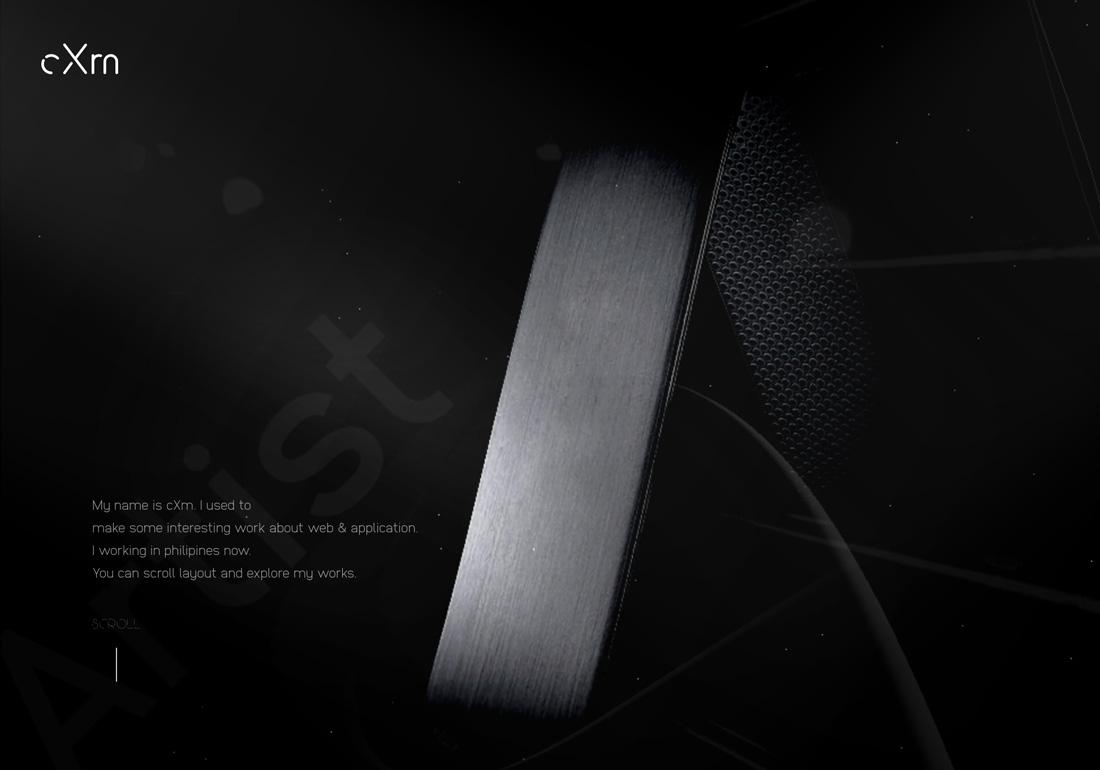 Interactive designer cXm's potifolio