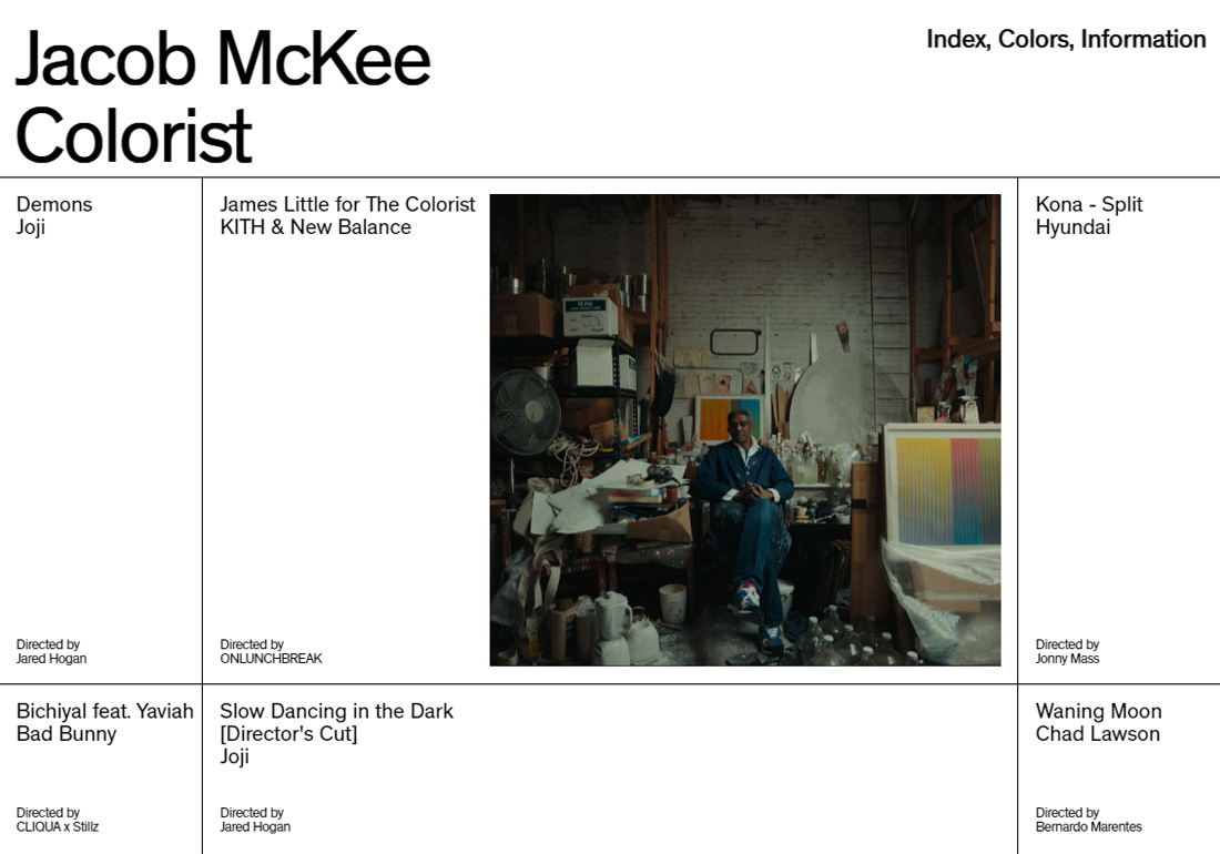 Jacob Mckee — Colorist