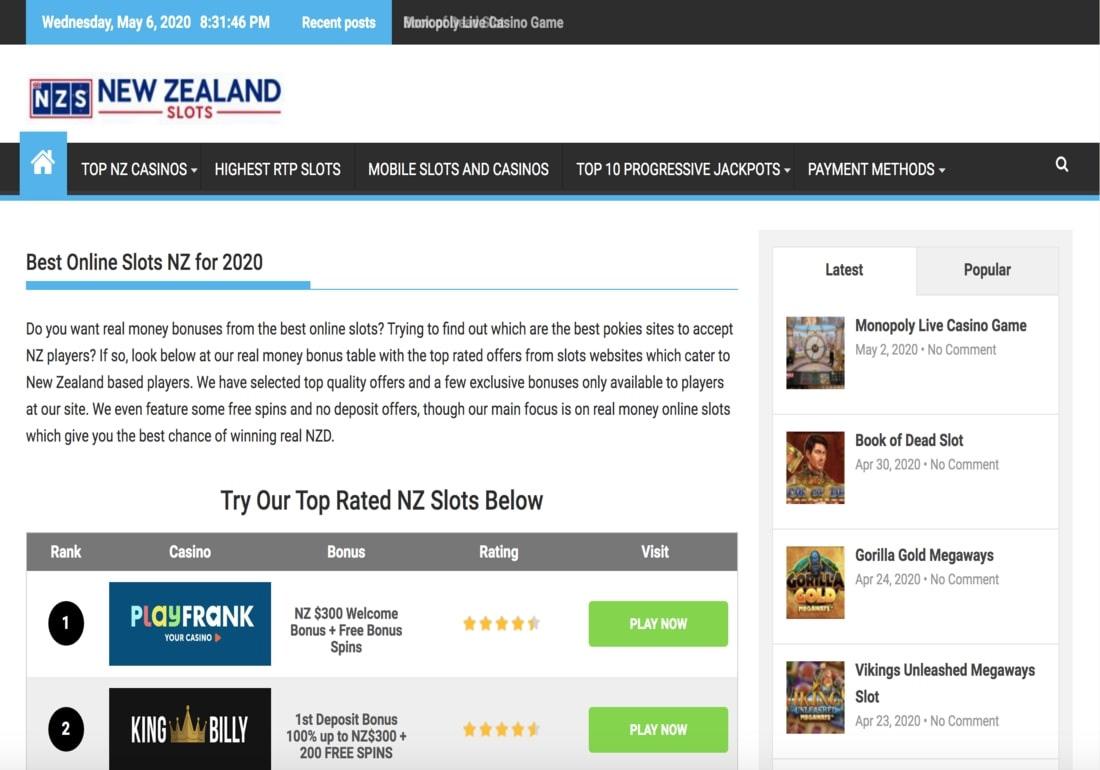 New Zealand Slots