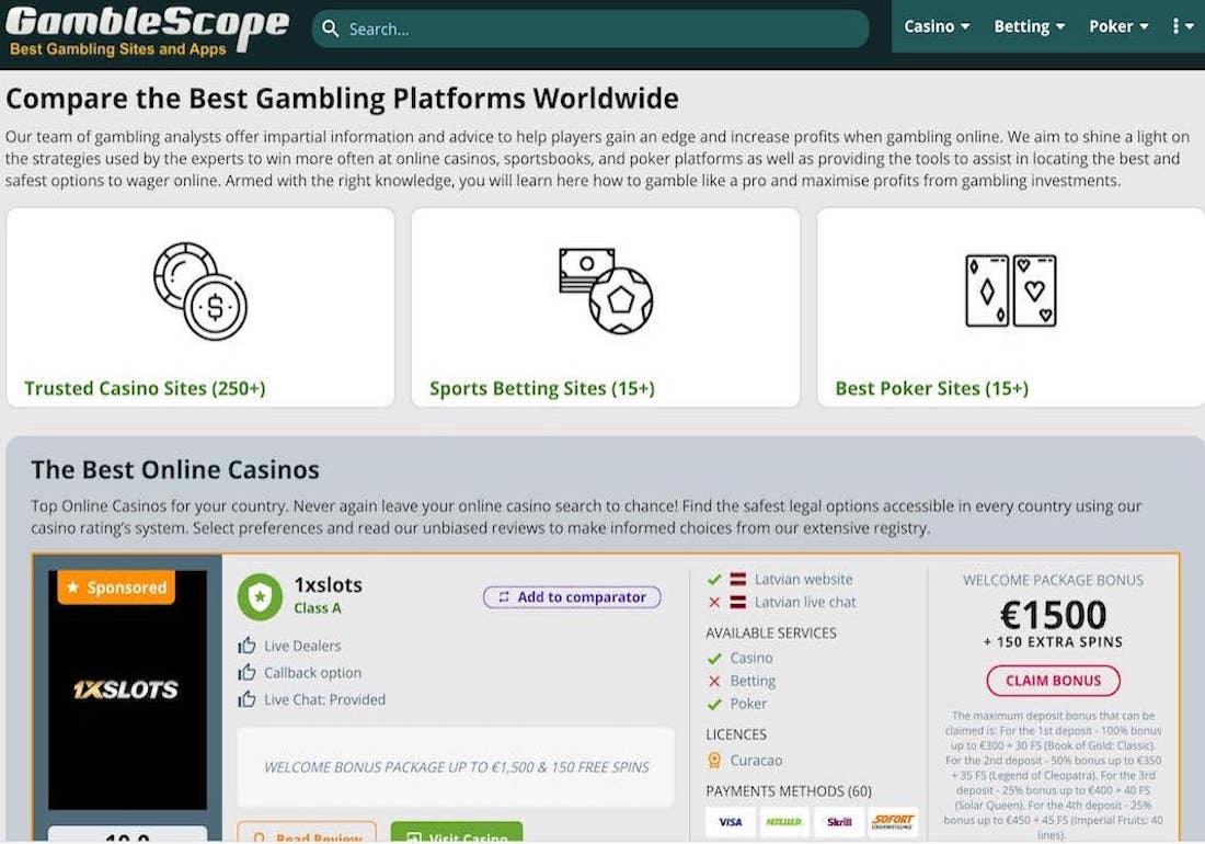 Gamblescope - Gambling Sites