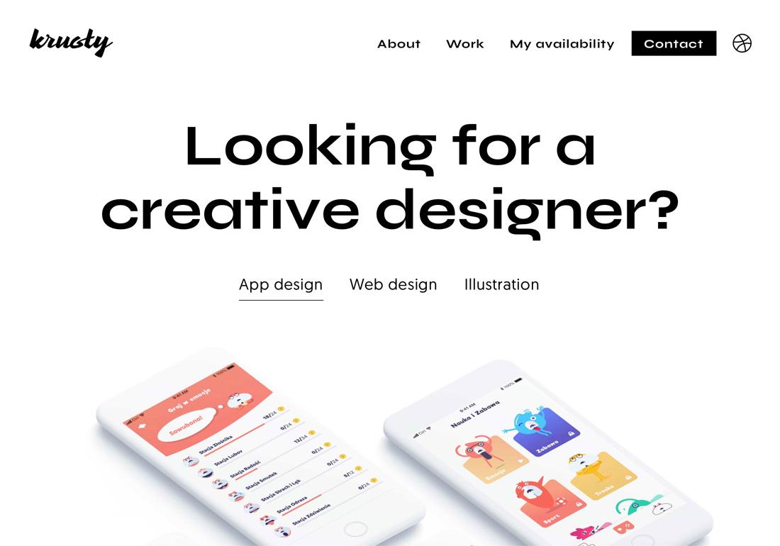 UX UI Designer portfolio