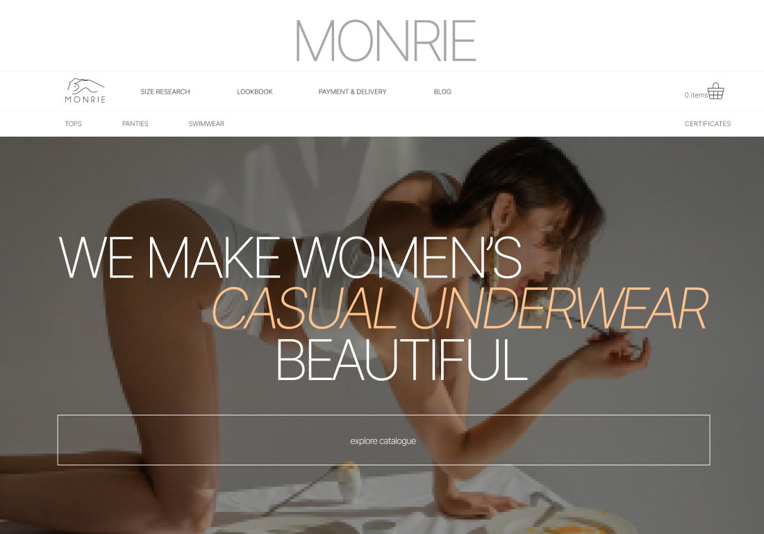 Monrie - Women's underwear e-store