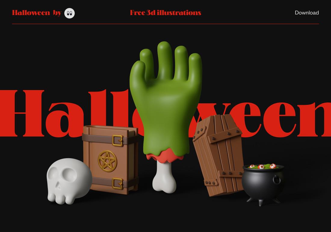 Free Halloween 3d illustrations