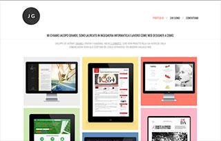 Jacopo Grande - Web design