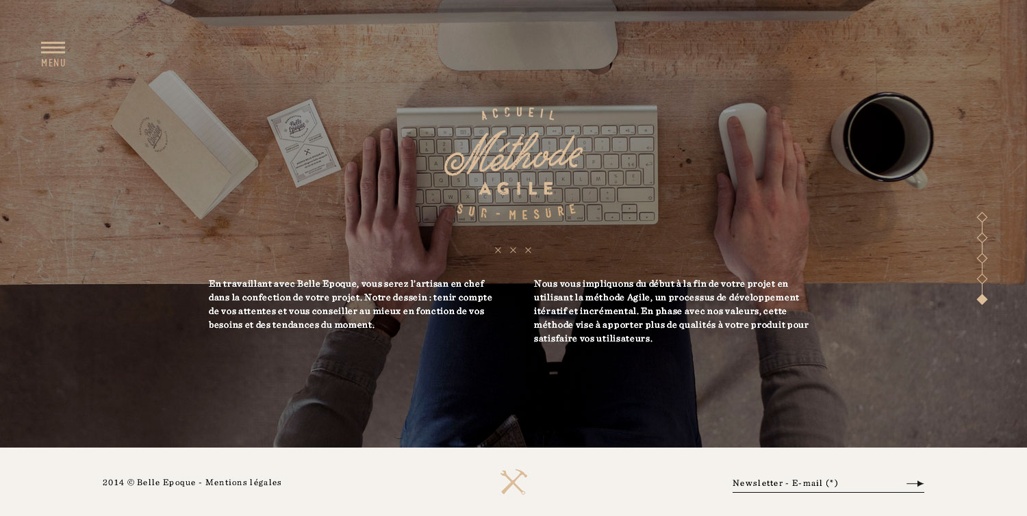Belle Epoque Agency - Website of the Month