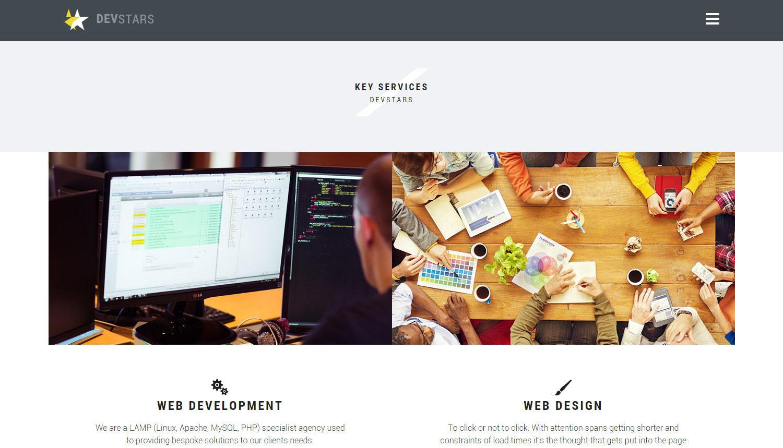 Devstars Web Development - Website of the Day