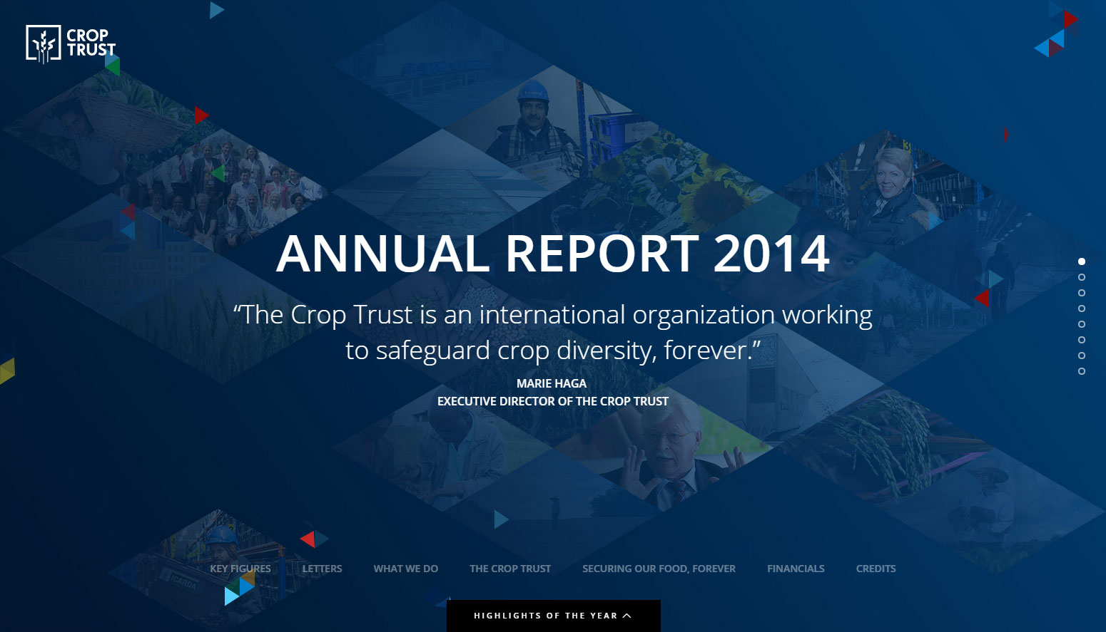 Crop Trust - 2014 Annual Report - Website of the Day
