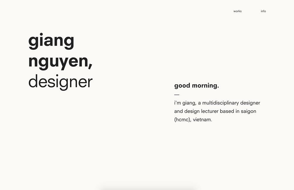 Giang Nguyen's Portfolio