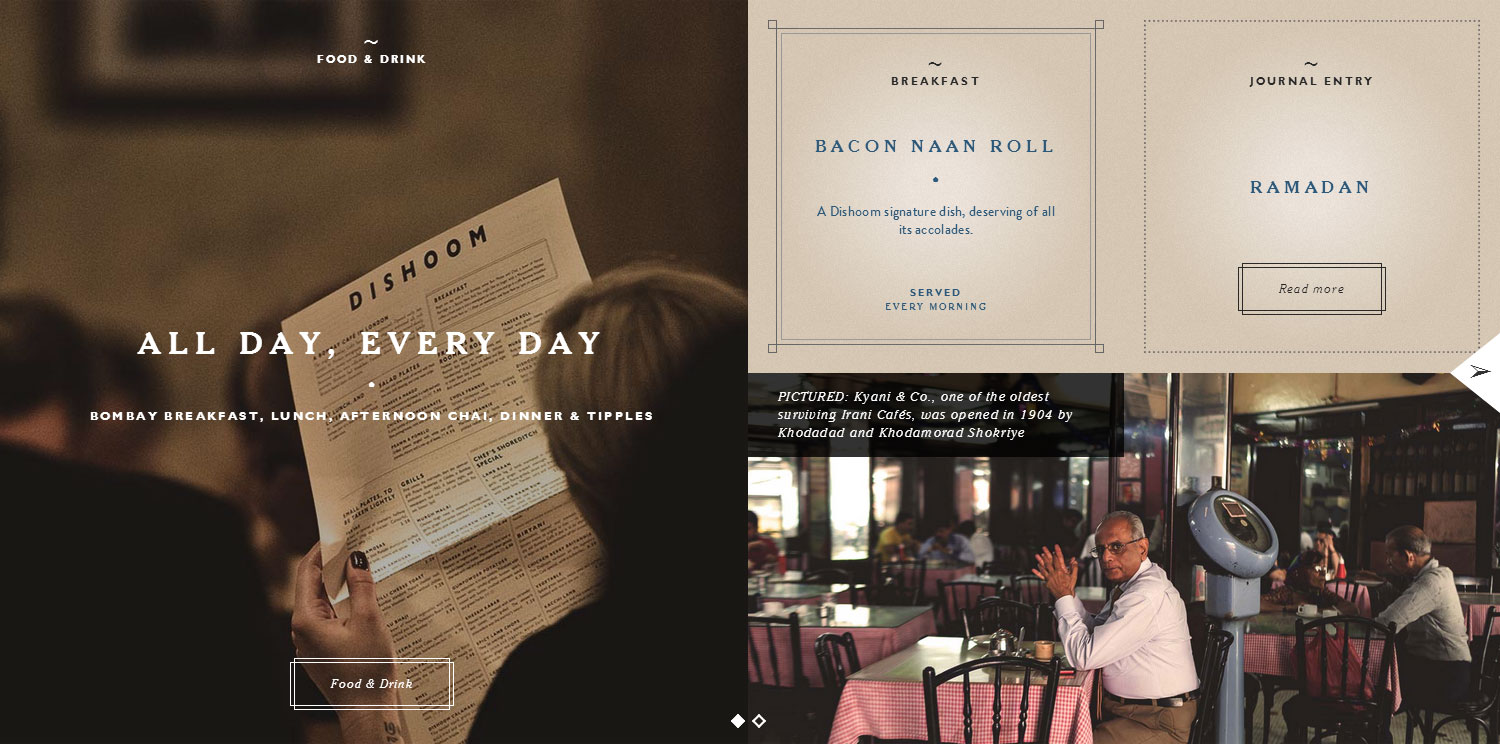 Dishoom - Website of the Day