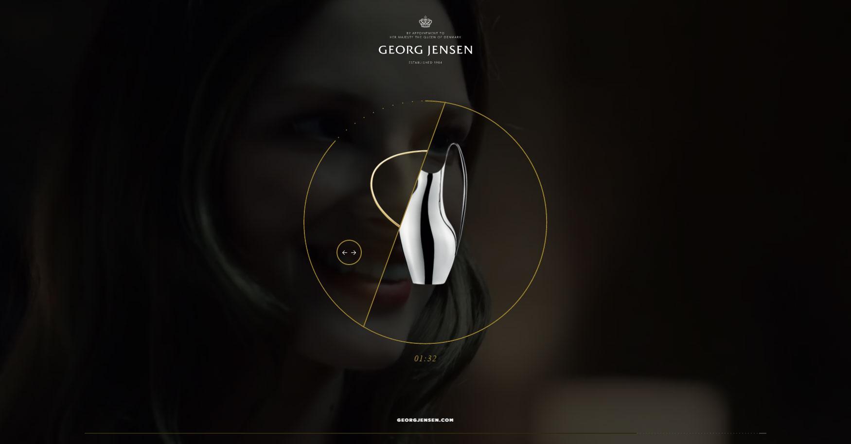 Georg Jensen - Website of the Month