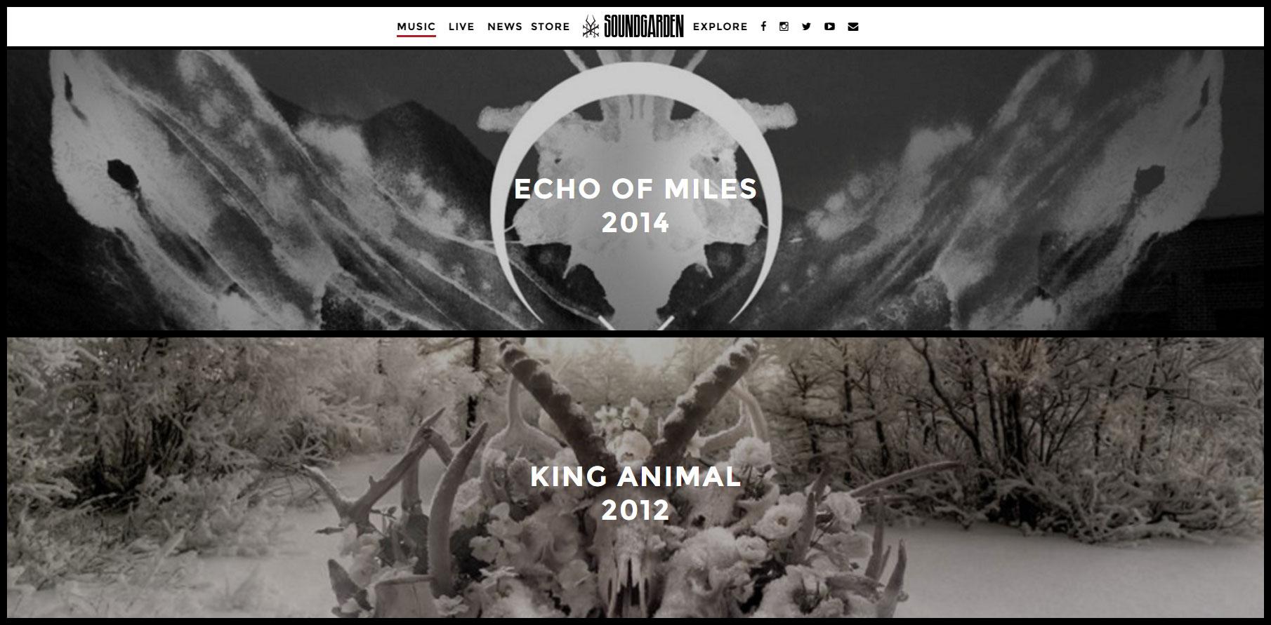 Soundgarden Official Website - Website of the Day