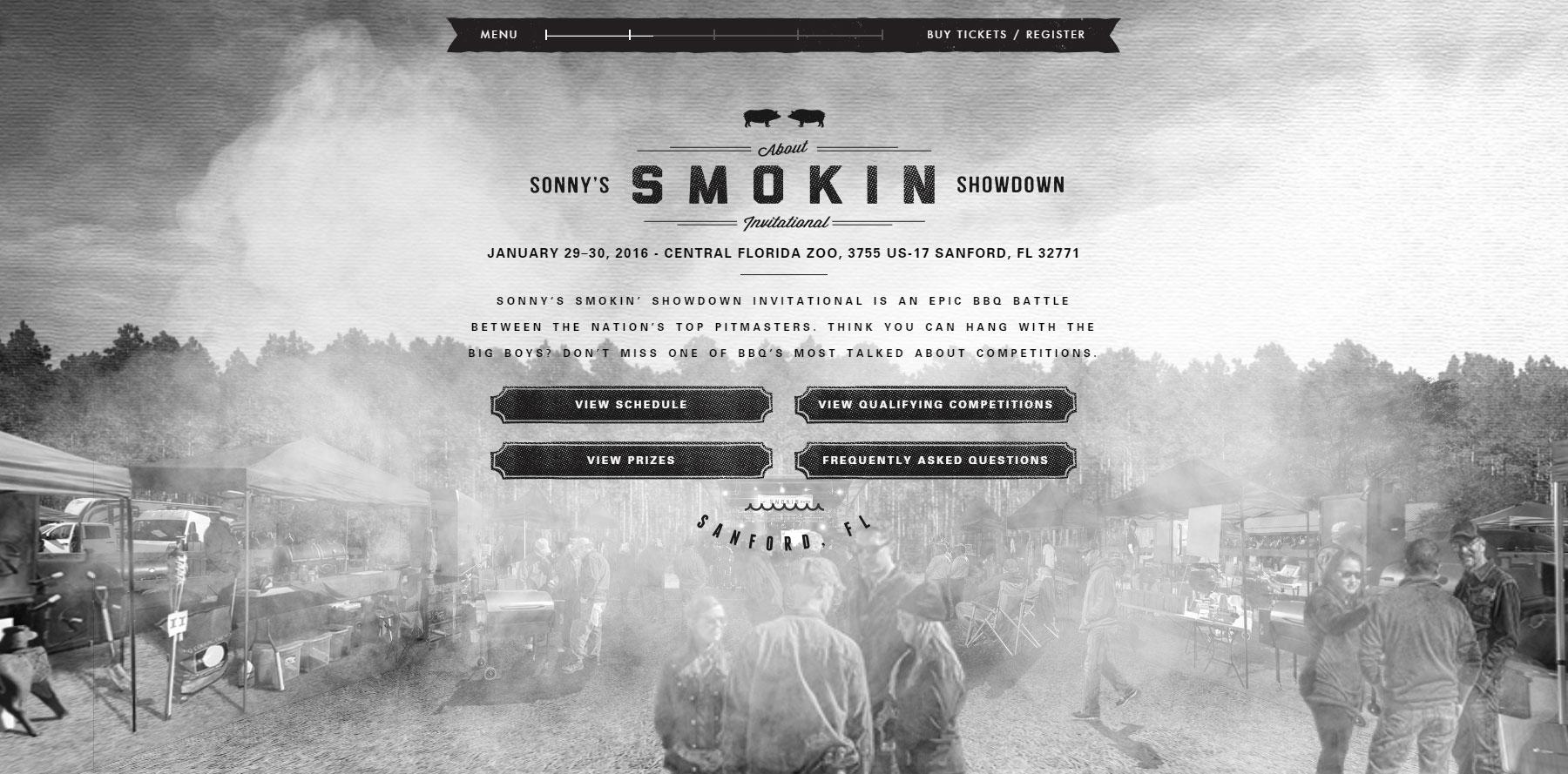 Sonny's Smokin' Showdown - Website of the Day
