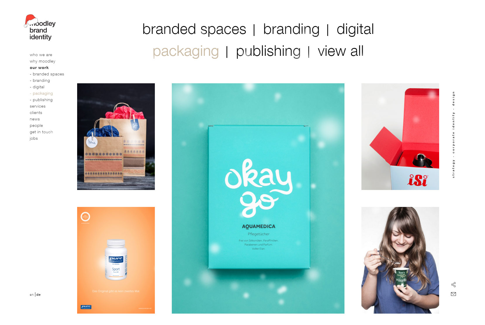 moodley brand identity - Website of the Day