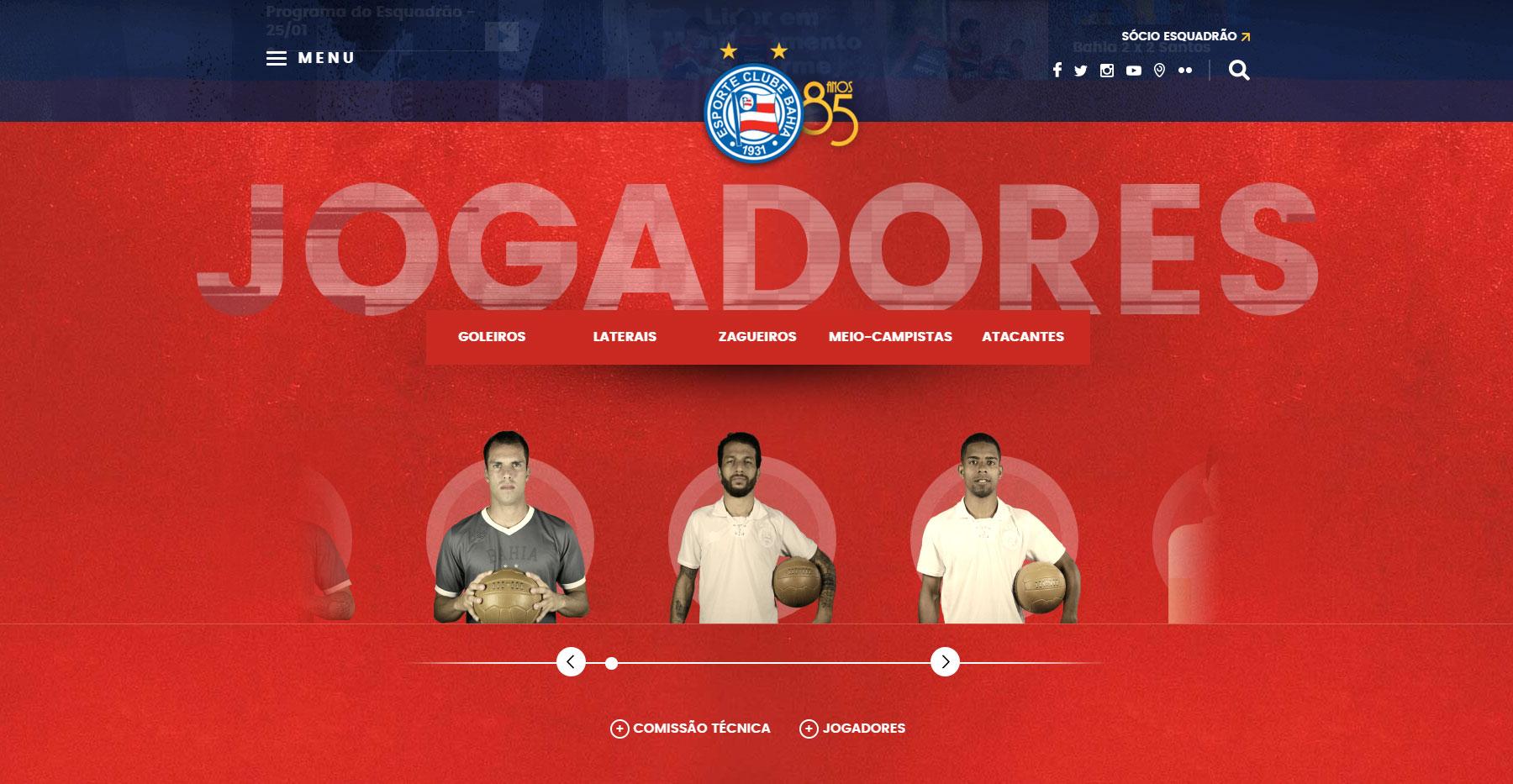 Esporte Clube Bahia - Website of the Day