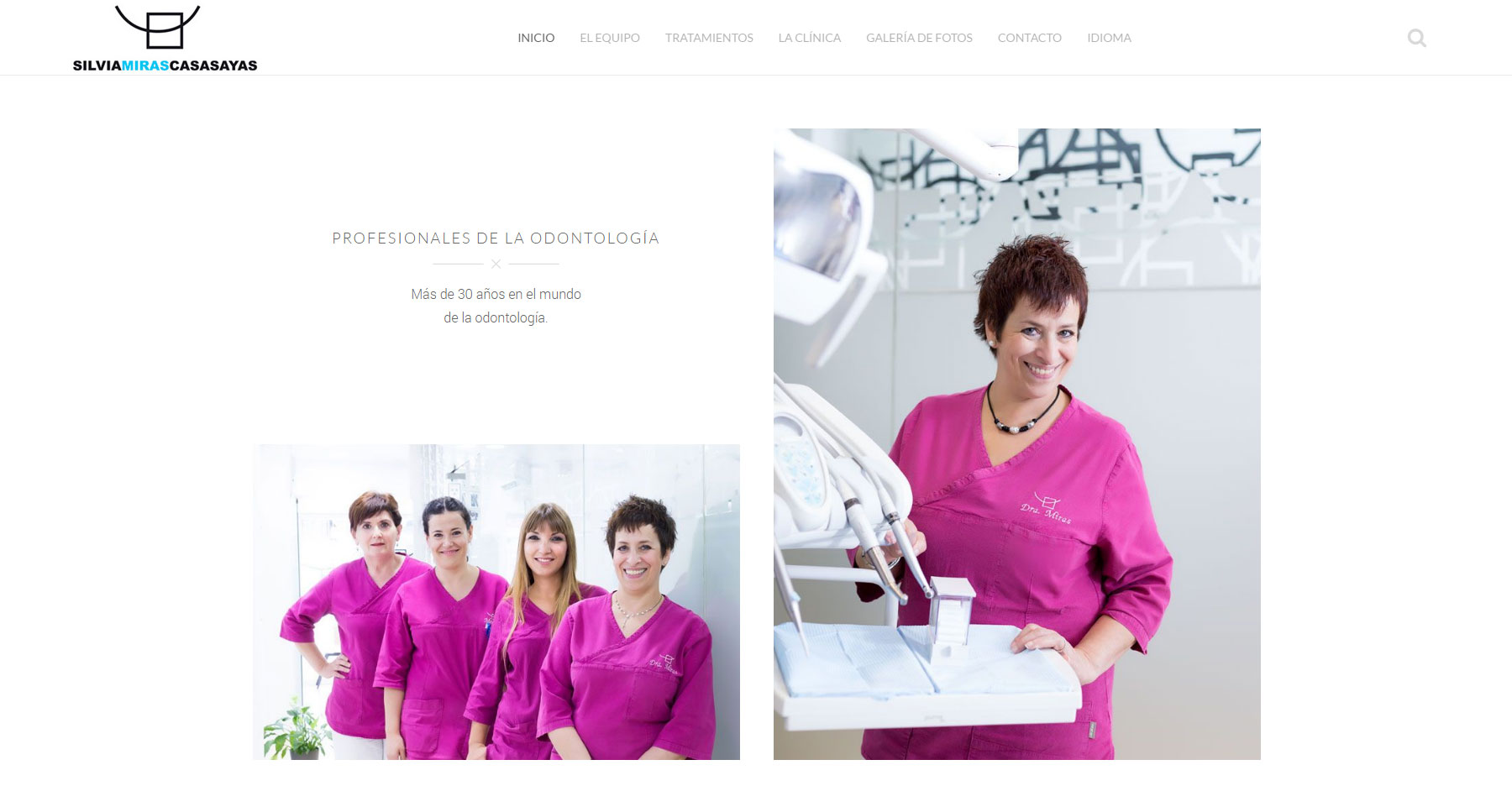 Dental Clinic Silvia M. Casasayas - Website of the Day