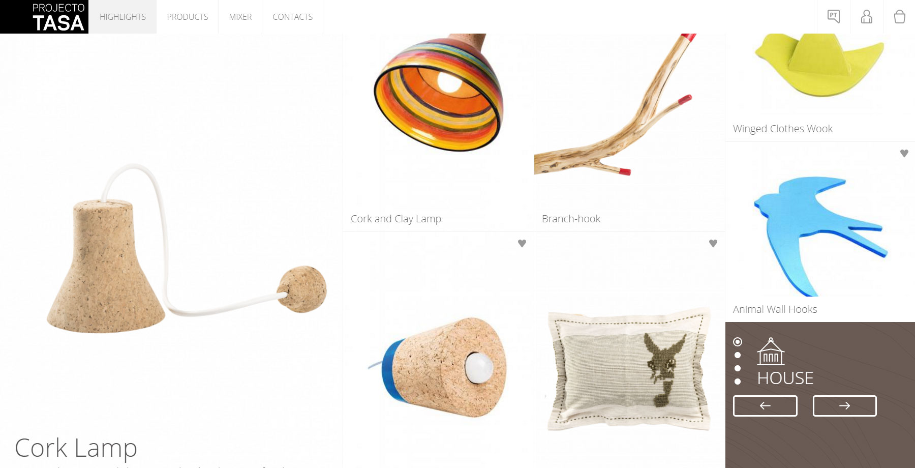 Projecto Tasa Shop - Website of the Day