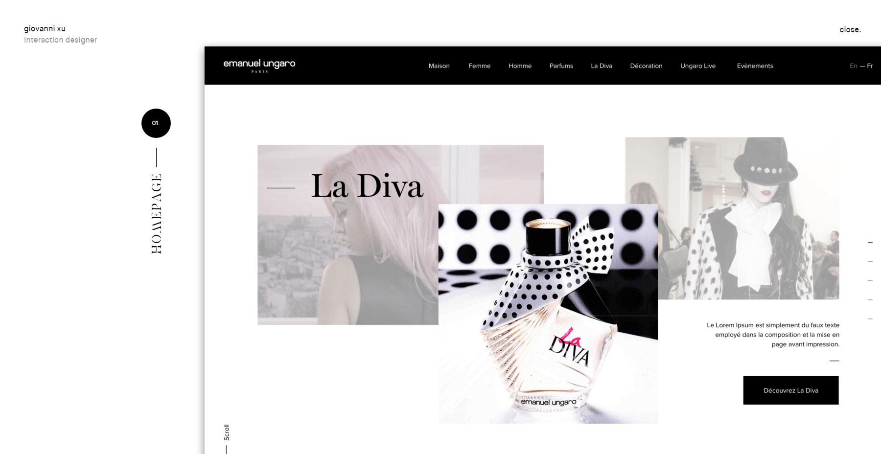 Giovanni Xu - Portfolio 2016 - Website of the Day