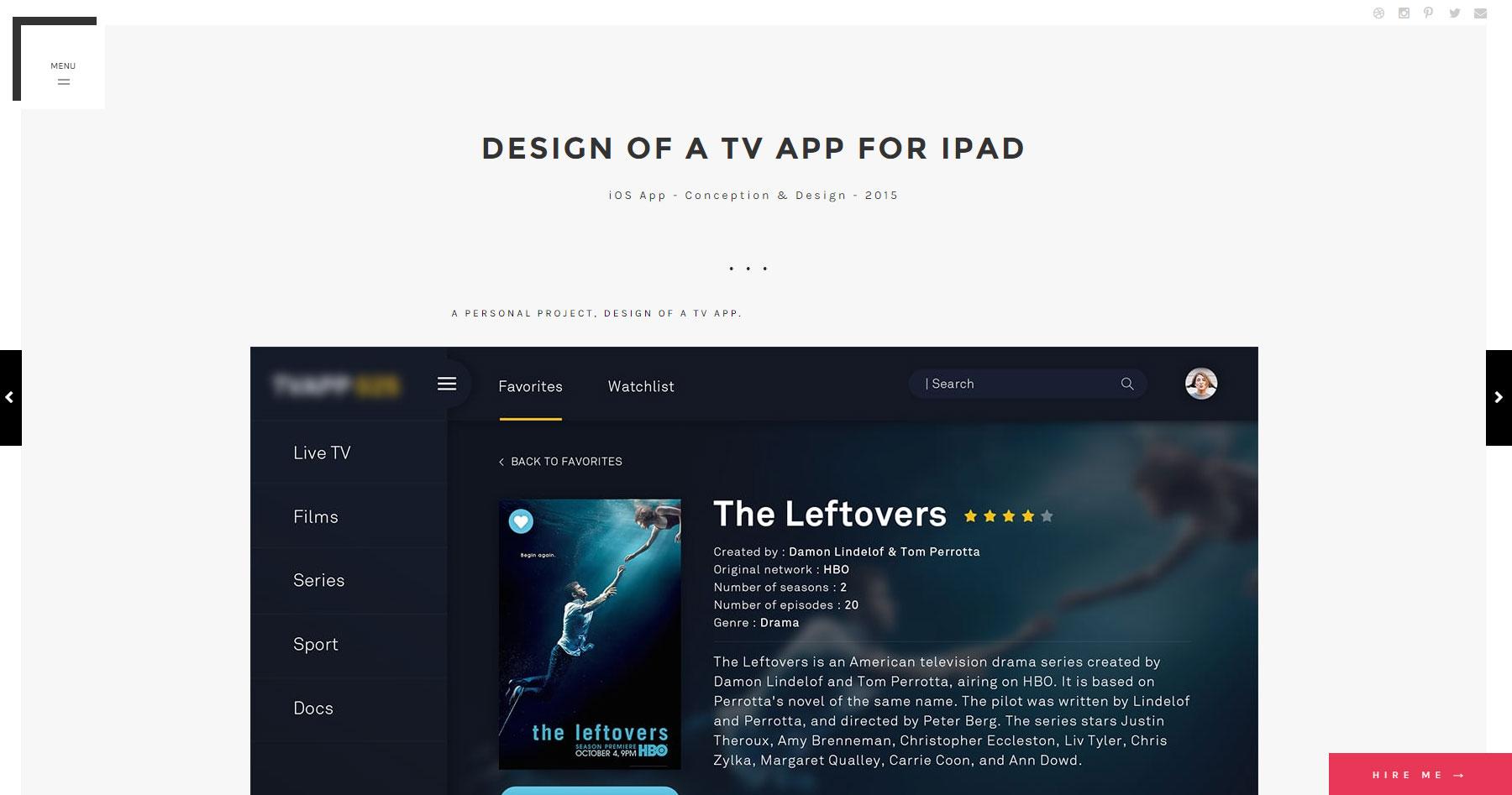 Pierre Leverrier Portfolio - Website of the Day
