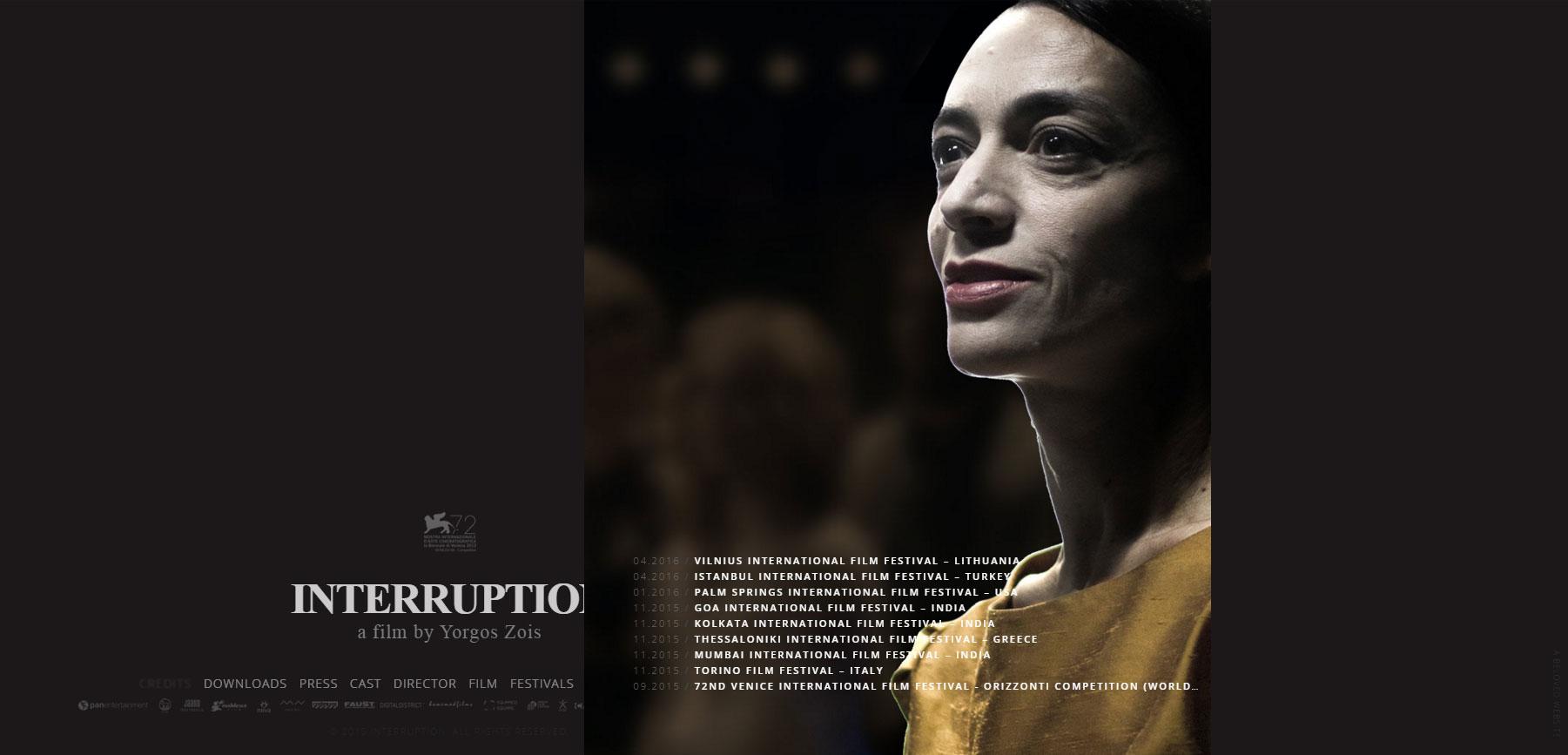 INTERRUPTION FILM - Website of the Day
