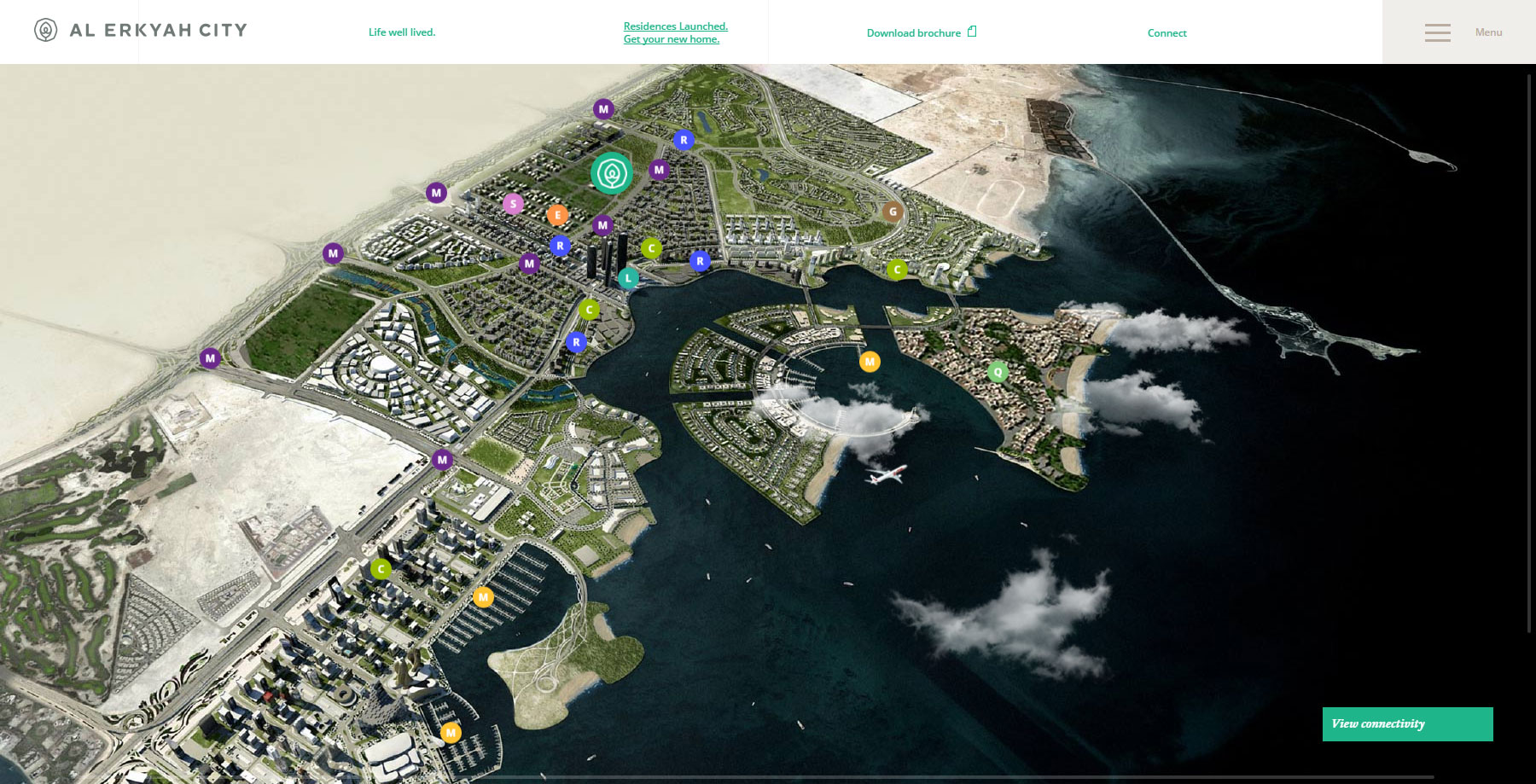 Al Erkyah City - Life well lived. - Website of the Day
