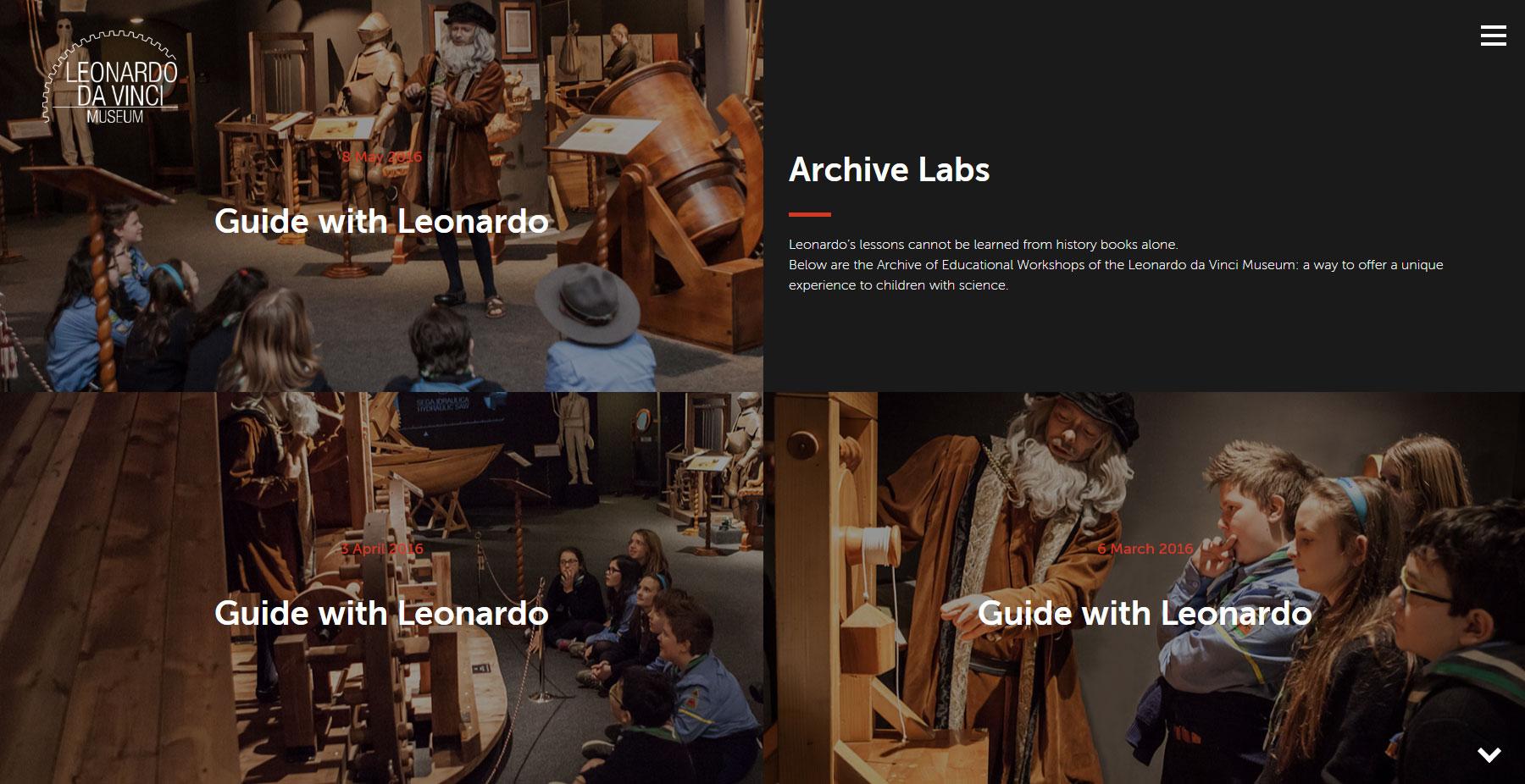 Museo Leonardo da Vinci - Website of the Day