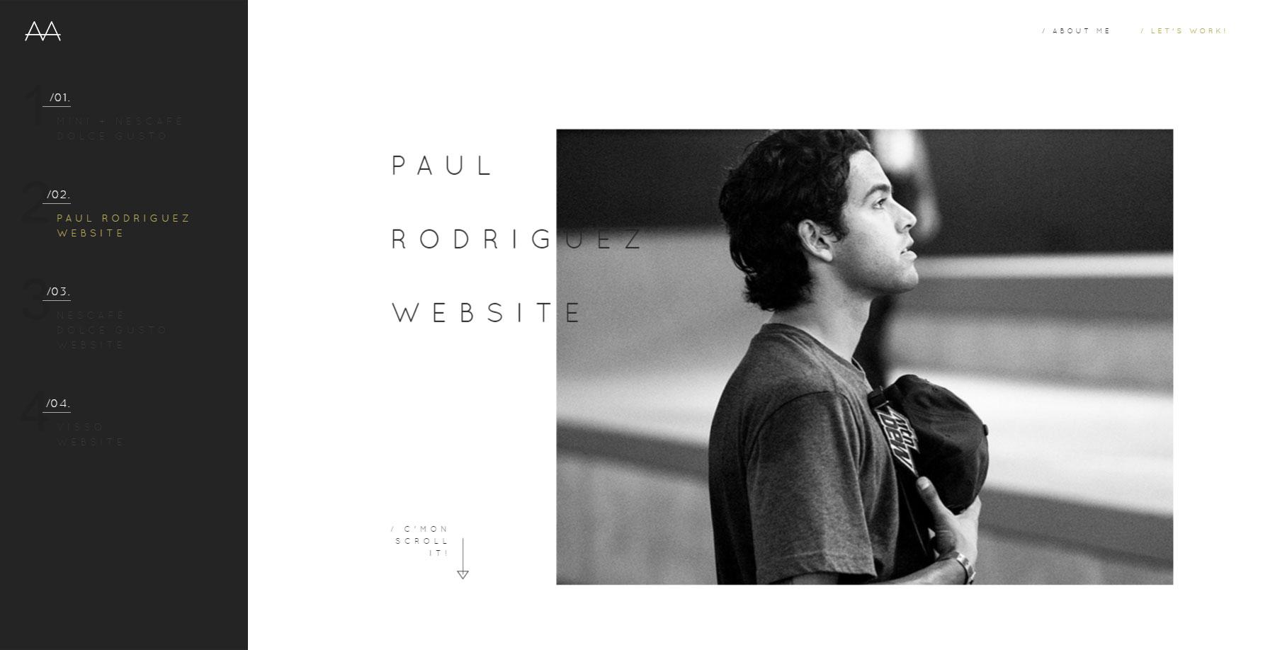 Aaron Márquez Portfolio - Website of the Day