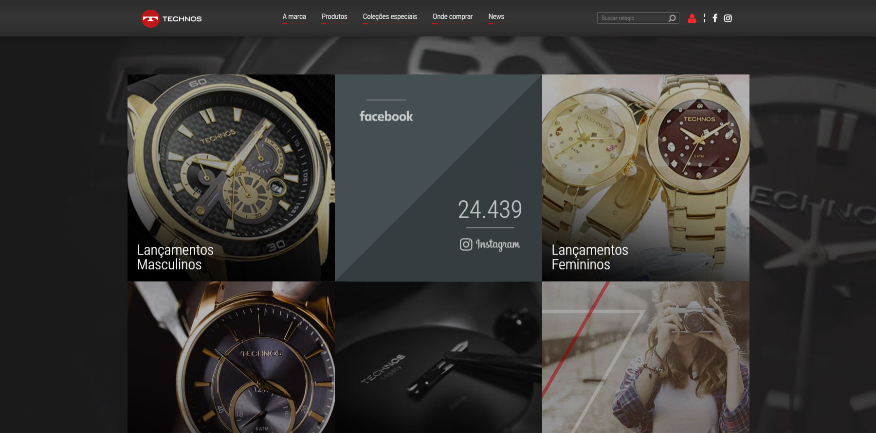 Technos | Viva cada conquista - Website of the Day