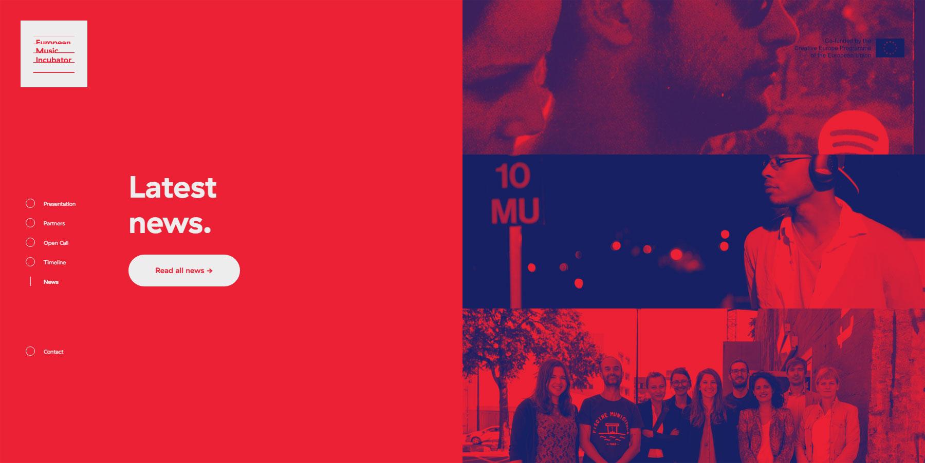European Music Incubator - Website of the Month