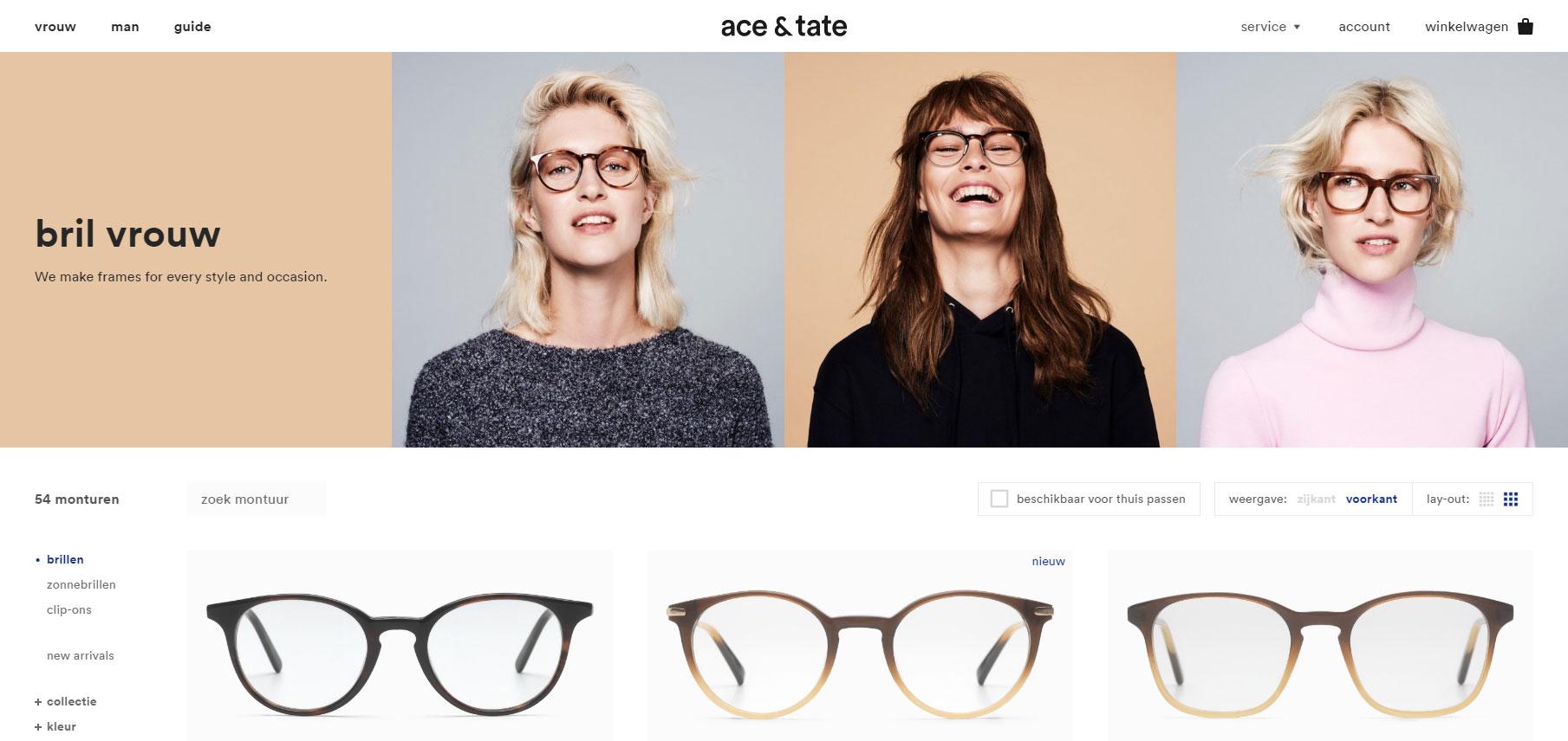 Ace & Tate + Lernert & Sander - Website of the Day