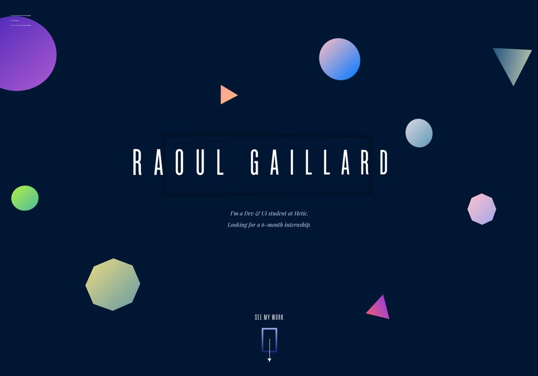 Raoul Gaillard - Portfolio