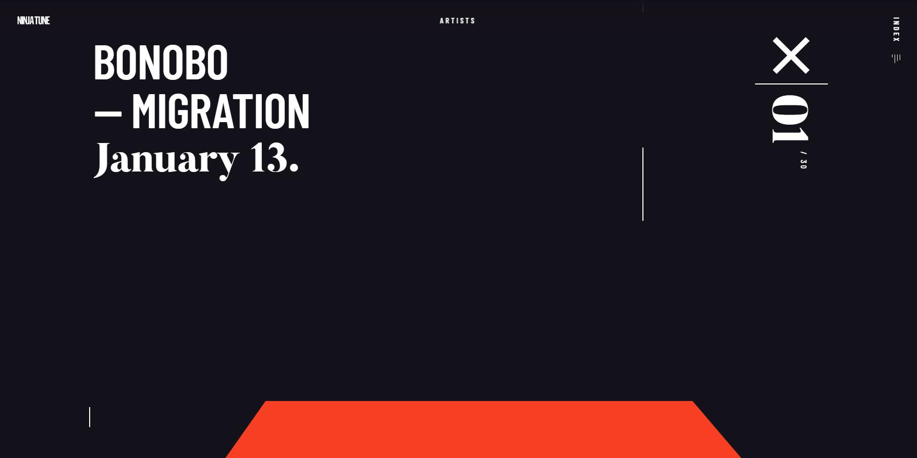 Ninja Tune 2017 - Website of the Day