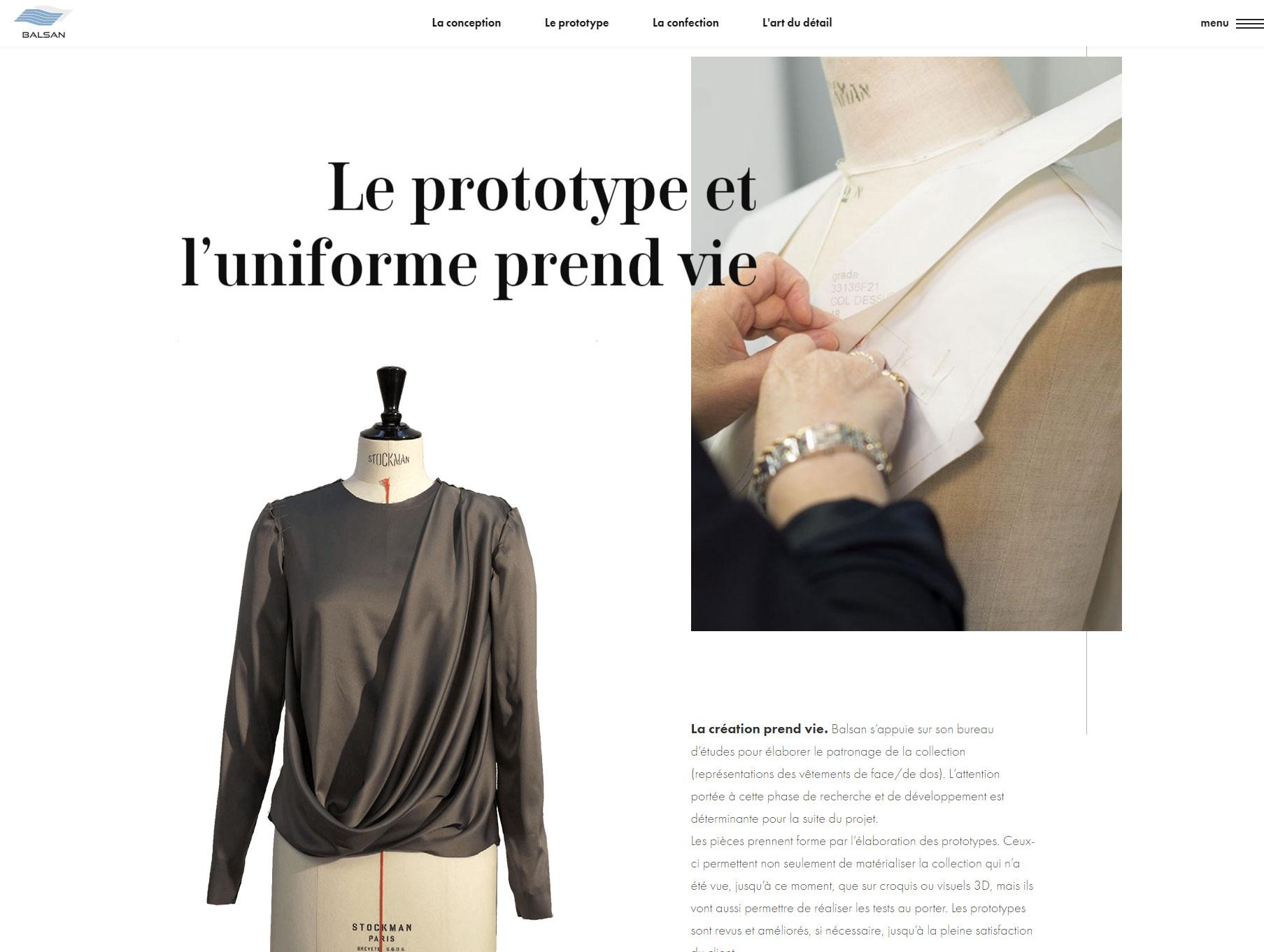 Balsan, la Griffe de l'Uniforme - Website of the Day
