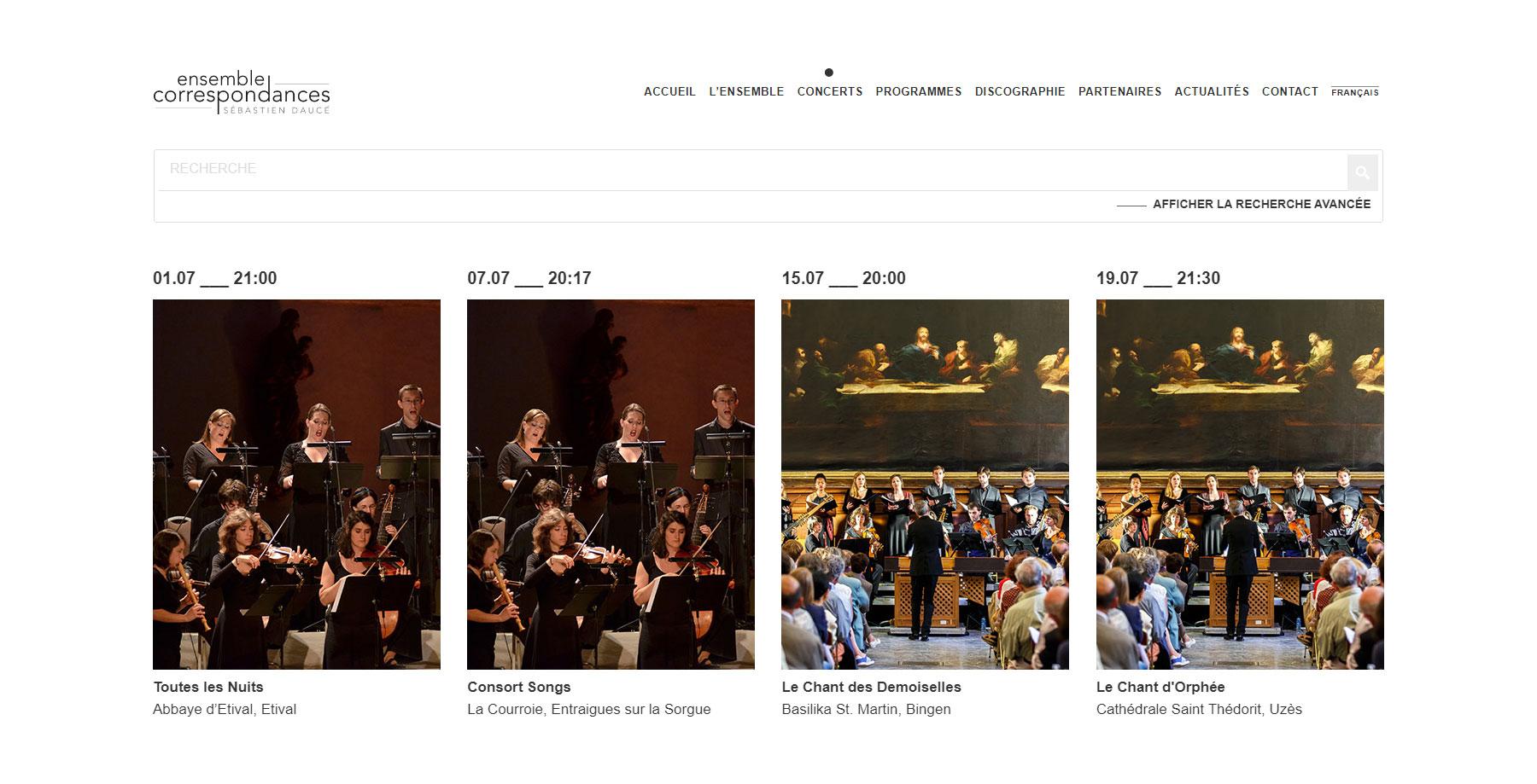 Ensemble Correspondances - Website of the Day
