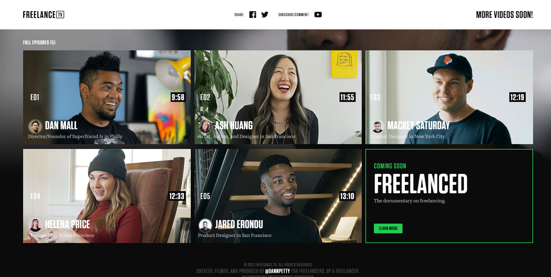 Freelance TV - Website of the Day