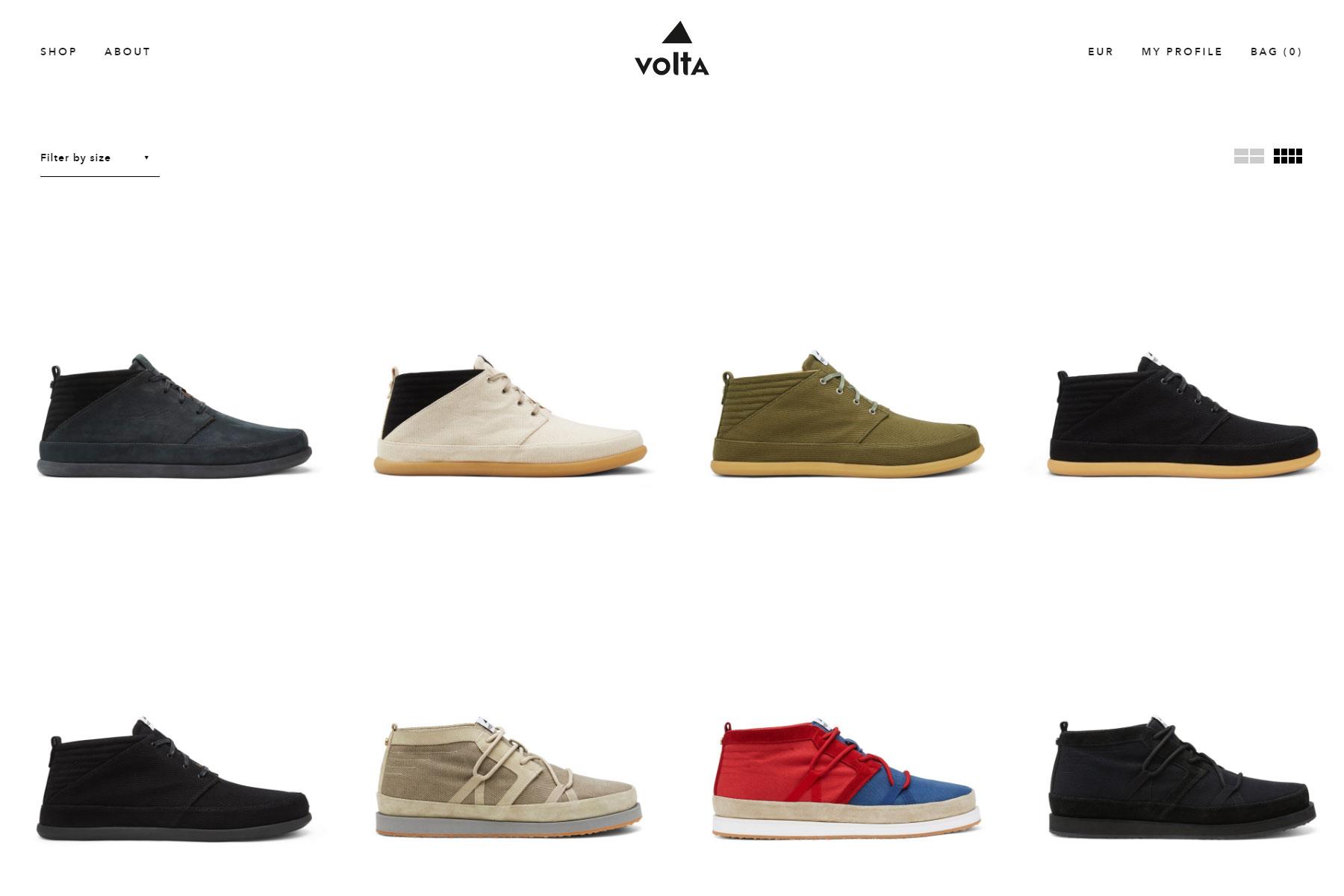 Volta Footwear - Website of the Day