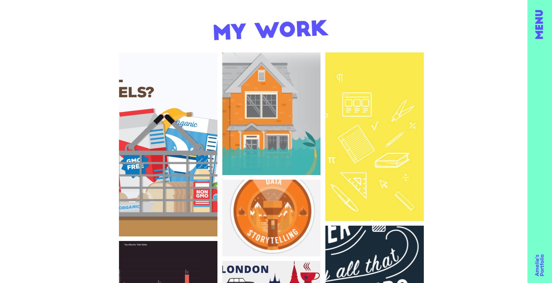 Amelia Thompson's Portfolio - Website of the Day