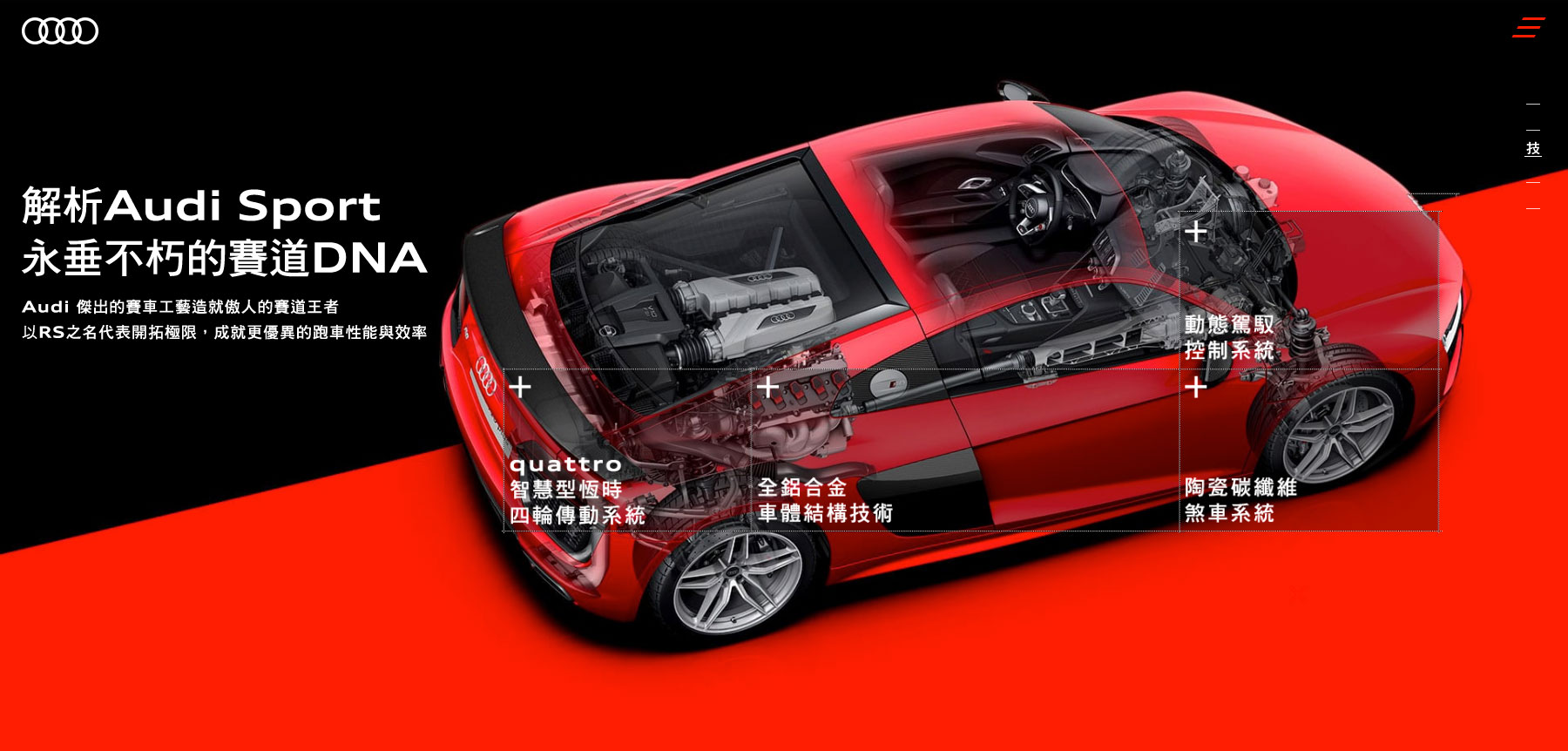 Audi Sport - Audi Taiwan - Website of the Day