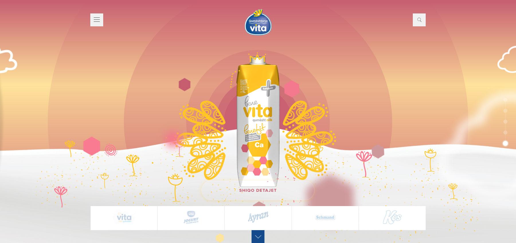 Qumështorja Vita - Website of the Day