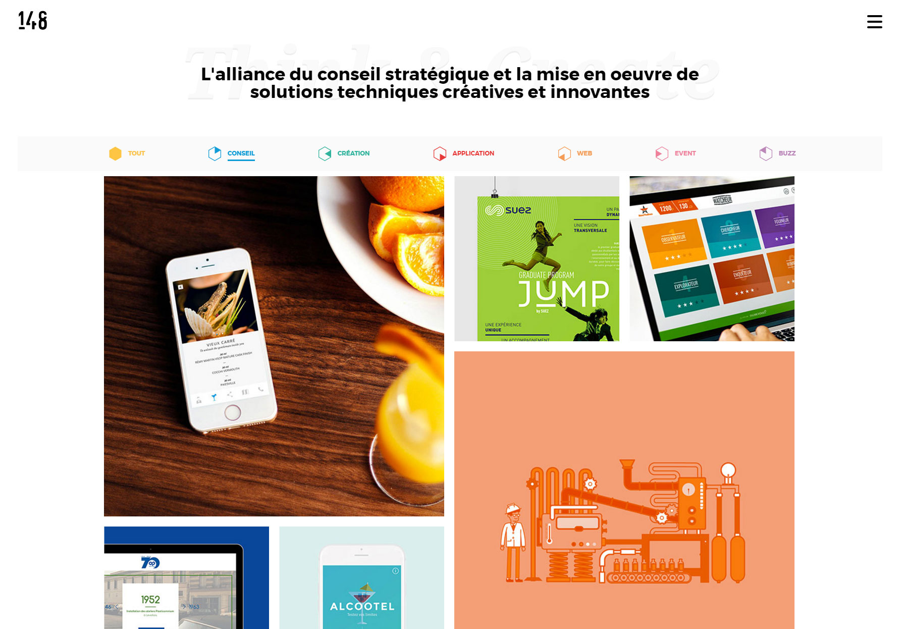 Agence 148  - Website of the Day