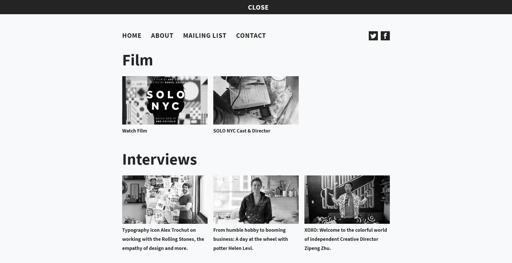 SOLO NYC - Website of the Day